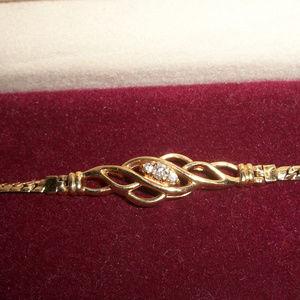 Jewelry - 14kt Gold Diamonds Foxbox Link Bracelet